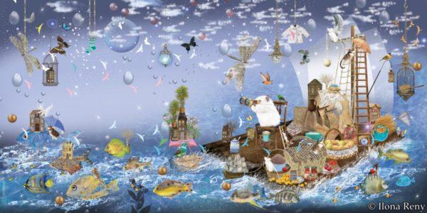 """Poster 12 aus """"Thomas und das Meer"""" von Ilona Reny"""