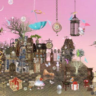 Postkarte rosa Traum von Ilona Reny DIN A 6