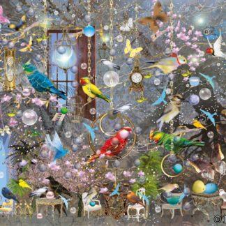 Postkarte von Ilona Reny Postkarte viele bunte Papageien