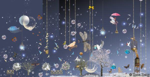 Postkarte Ilona Reny Night Sky Blue