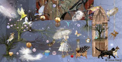 Postkarte Ilona Reny Dark Golden Evening