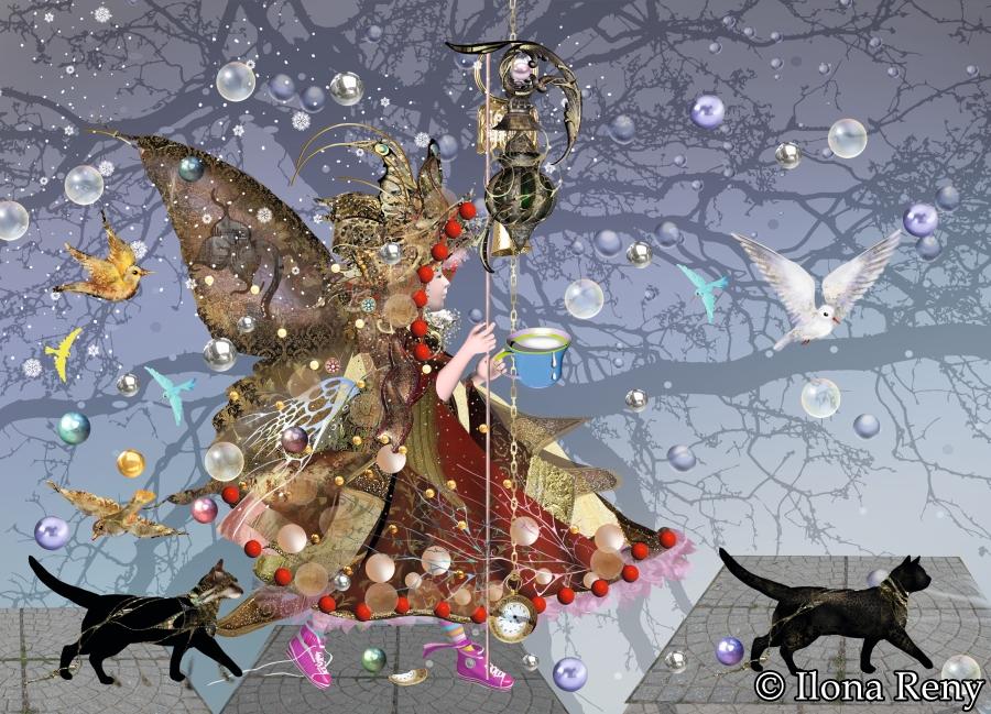 """Postkarte """"Schmetterlingsfee"""" Art.Nr.: P24"""