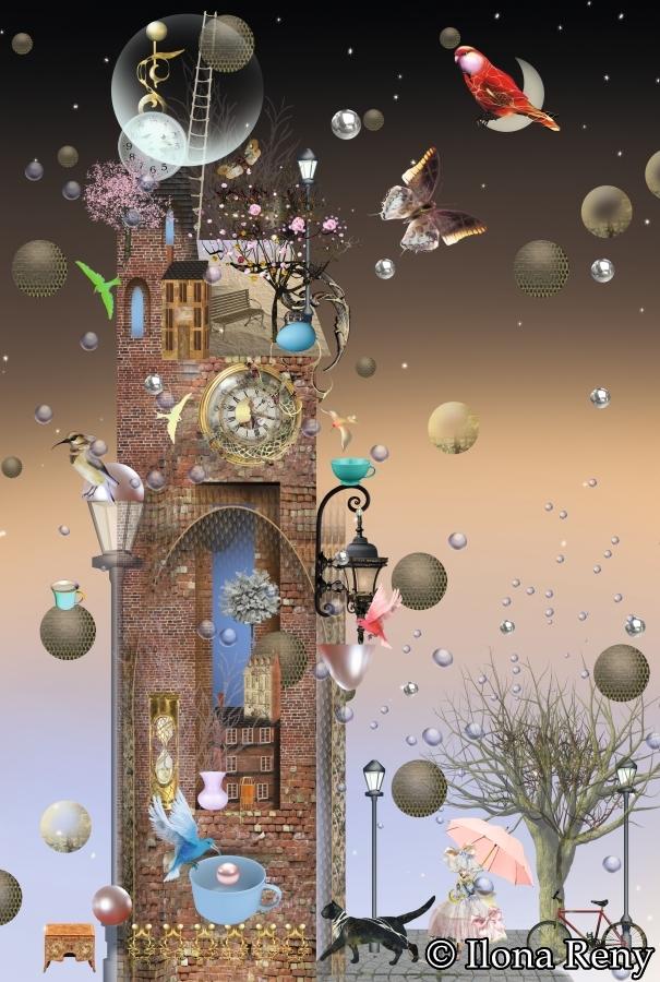 "Doppelkarte B6-Format ""Alter Turm"" Art.Nr.: D04"