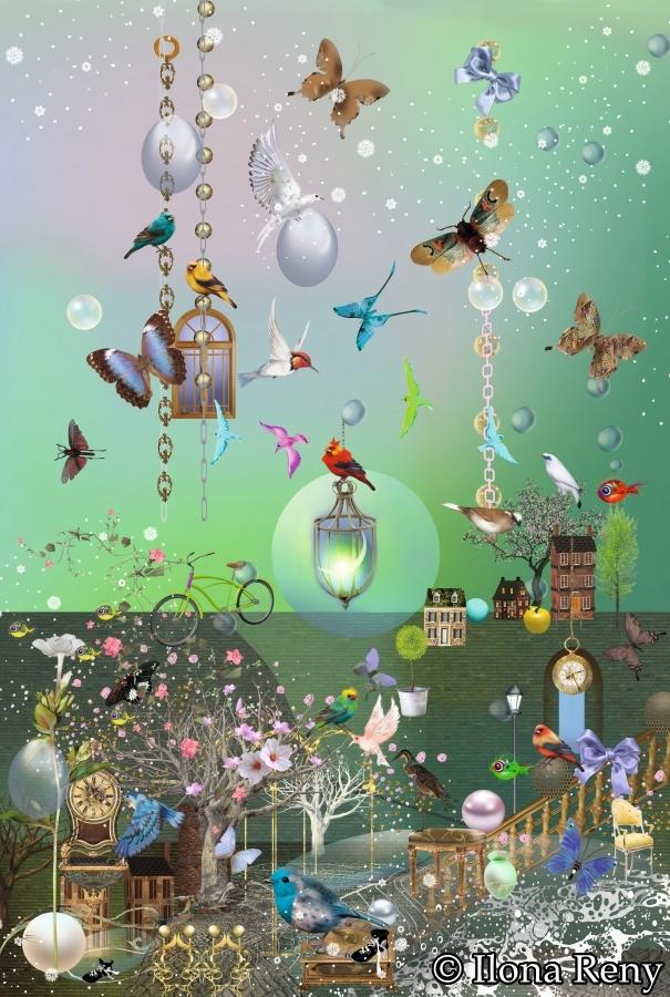 """Doppelkarte B6-Format """"Schmetterlingsgarten"""" Art.Nr.: D08"""