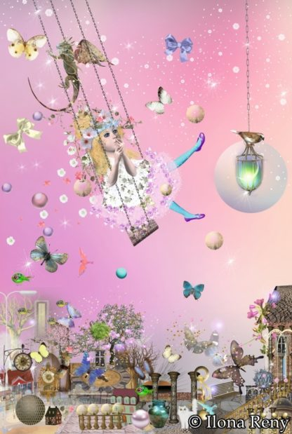 """Doppelkarte B6-Format """"Prinzessin in rosa"""" Art.Nr.: D10"""