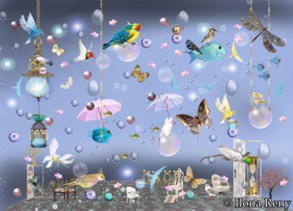 """Postkarte """"Vögel und Fische I"""" Art.Nr.: P 13"""