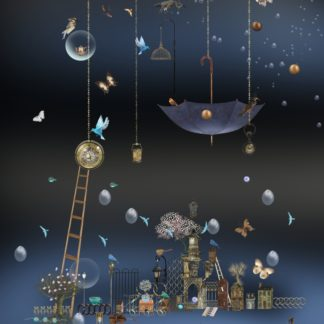 "Postkarte ""Nächtlicher Regen II"" Art.Nr.: P 06"