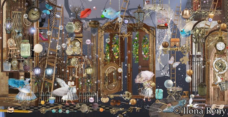 "Postkarte DIN-Format ""Angels at Evening"" Art.Nr.: DIN01"