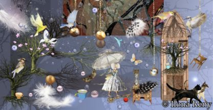 """Postkarte DIN-Format """"Dark Golden Evening"""" Art.Nr.: DIN03"""