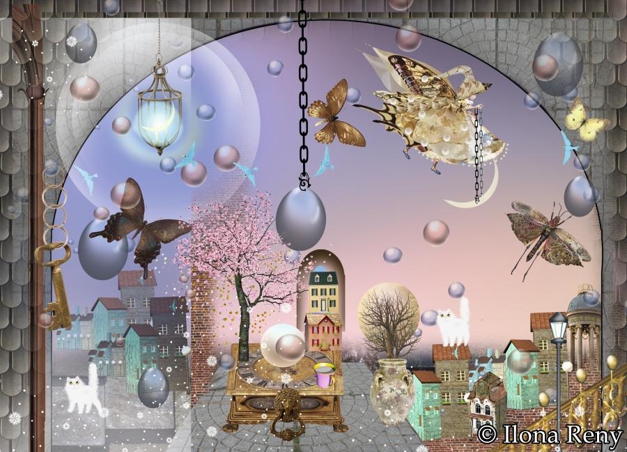 """Postkarte """"Die Nacht in lila"""" Art.Nr.: P27"""