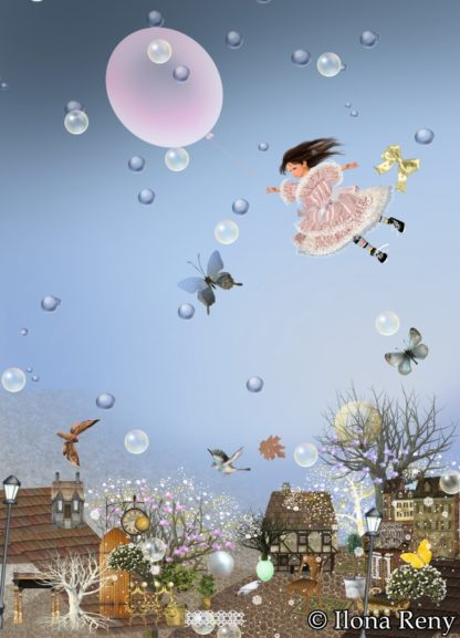 "Postkarte ""rosa Luftballon"" Art.Nr.: P31"